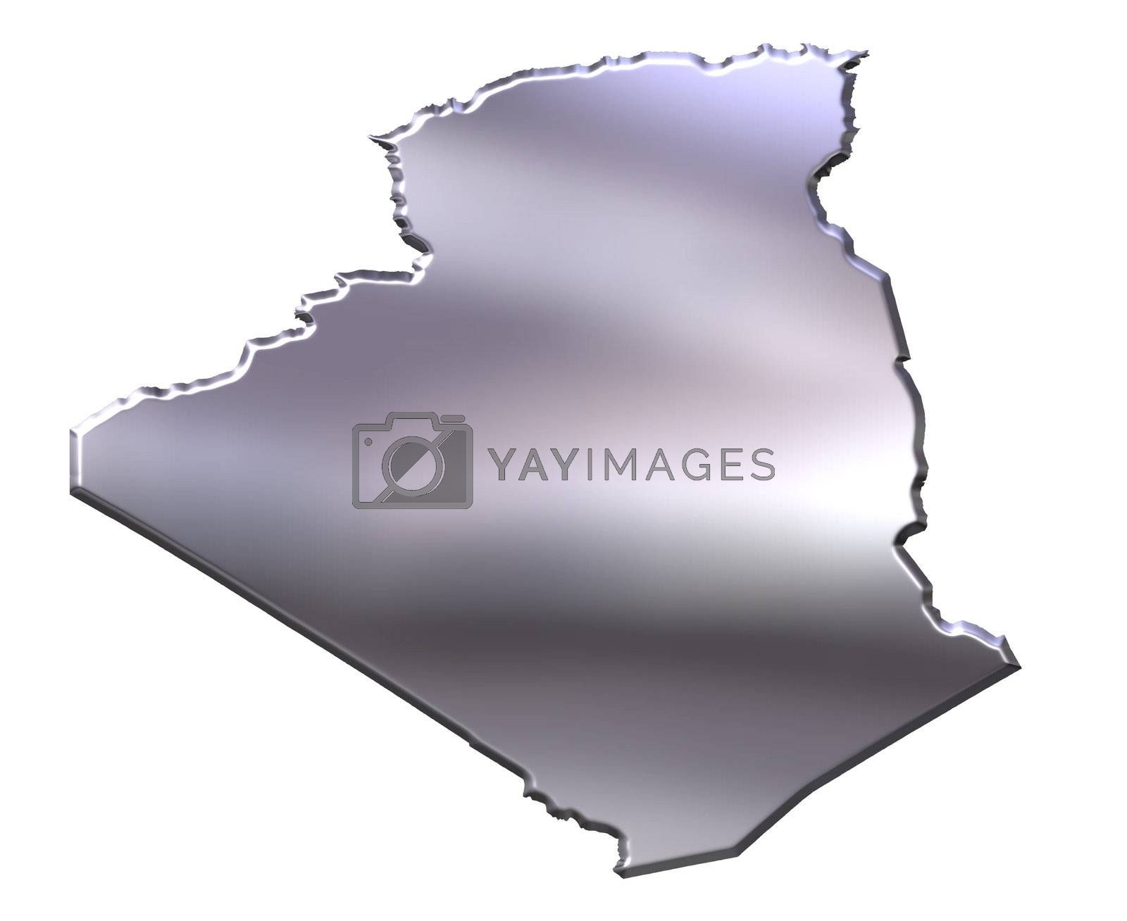 Royalty free image of Algeria 3D Silver Map by Georgios