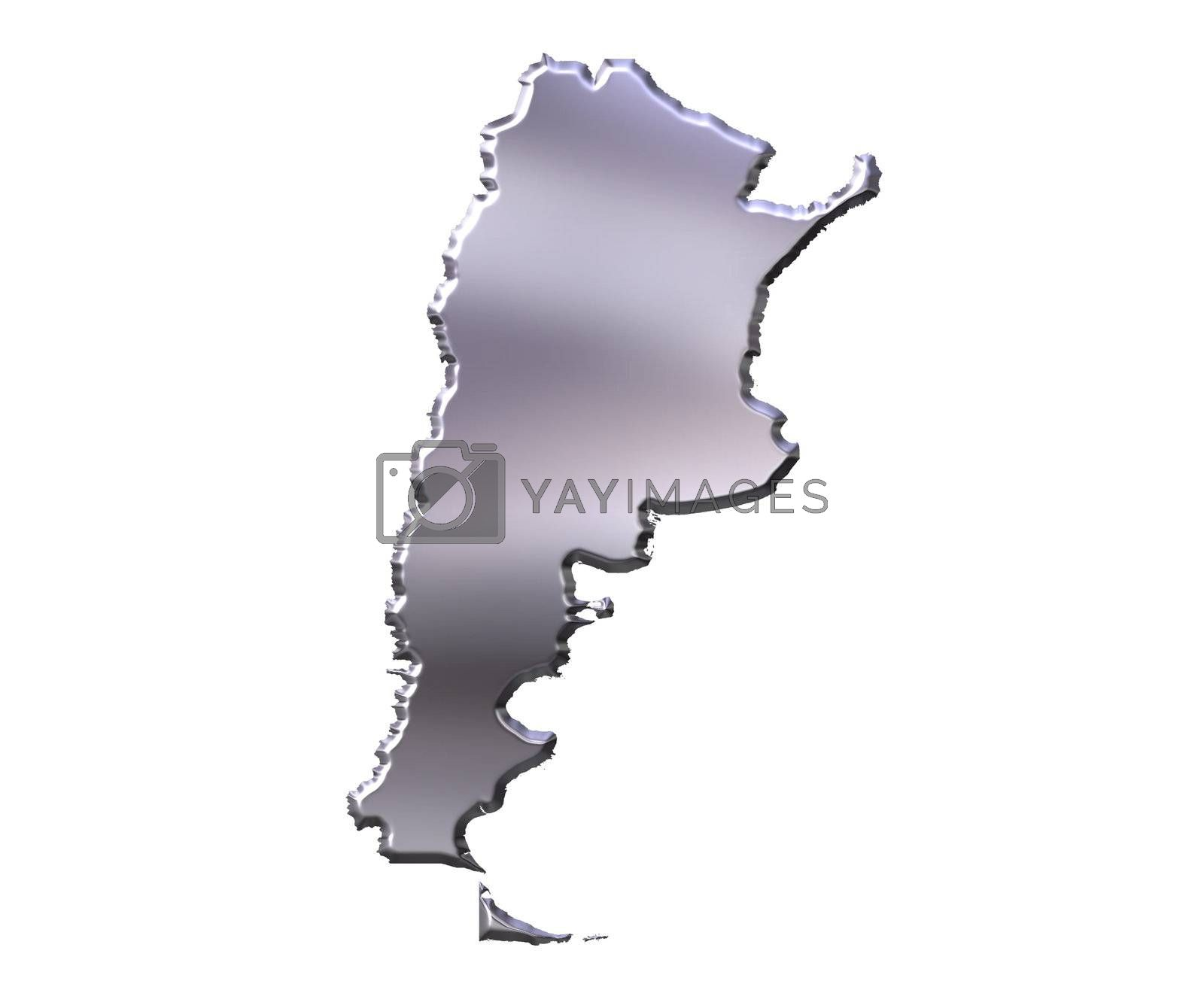 Royalty free image of Argentina 3D Silver Map by Georgios