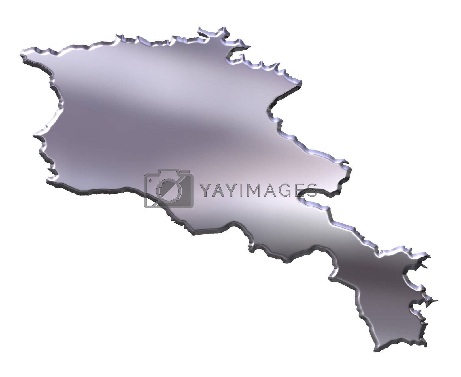 Royalty free image of Armenia 3D Silver Map by Georgios