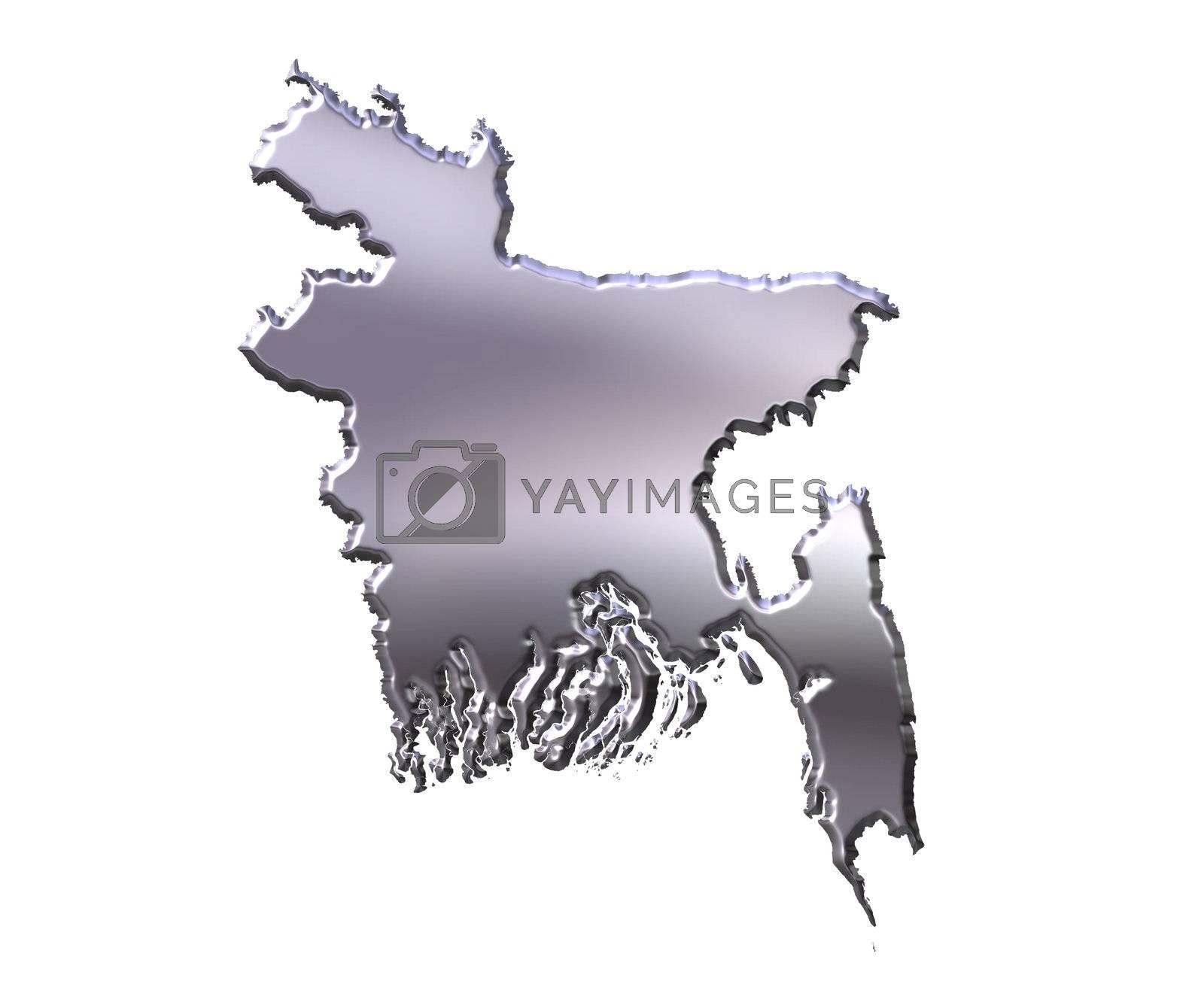 Royalty free image of Bangladesh 3D Silver Map by Georgios
