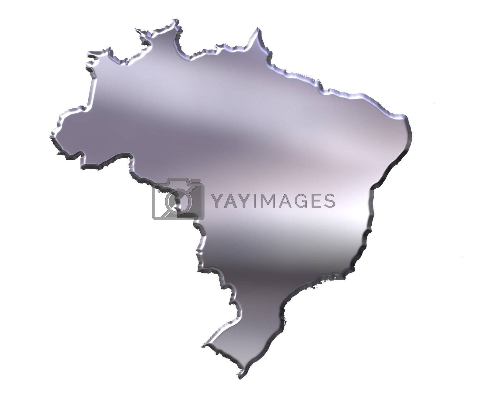 Royalty free image of Brazil 3D Silver Map by Georgios