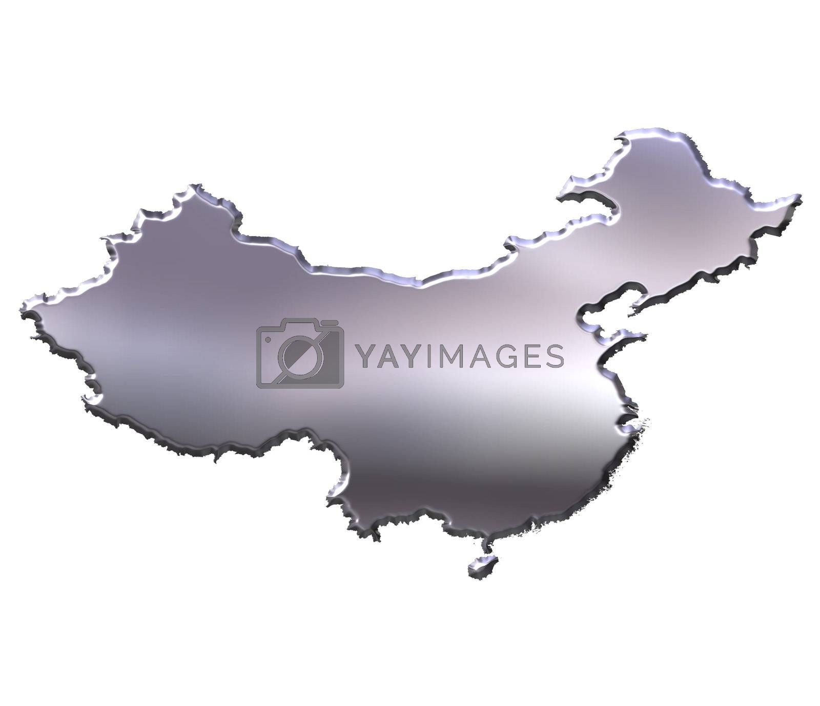 Royalty free image of China 3D Silver Map by Georgios