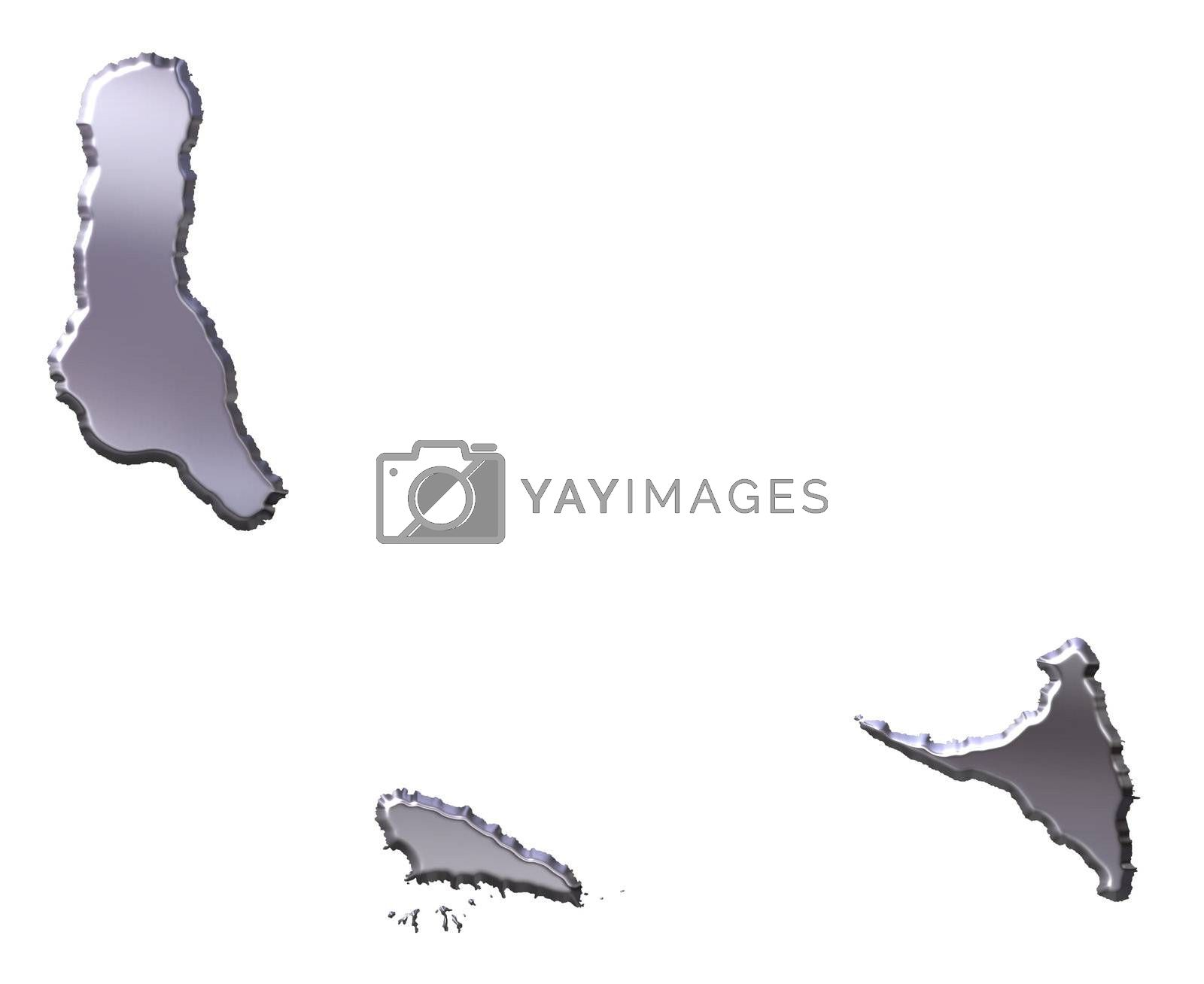 Royalty free image of Comoros 3D Silver Map by Georgios