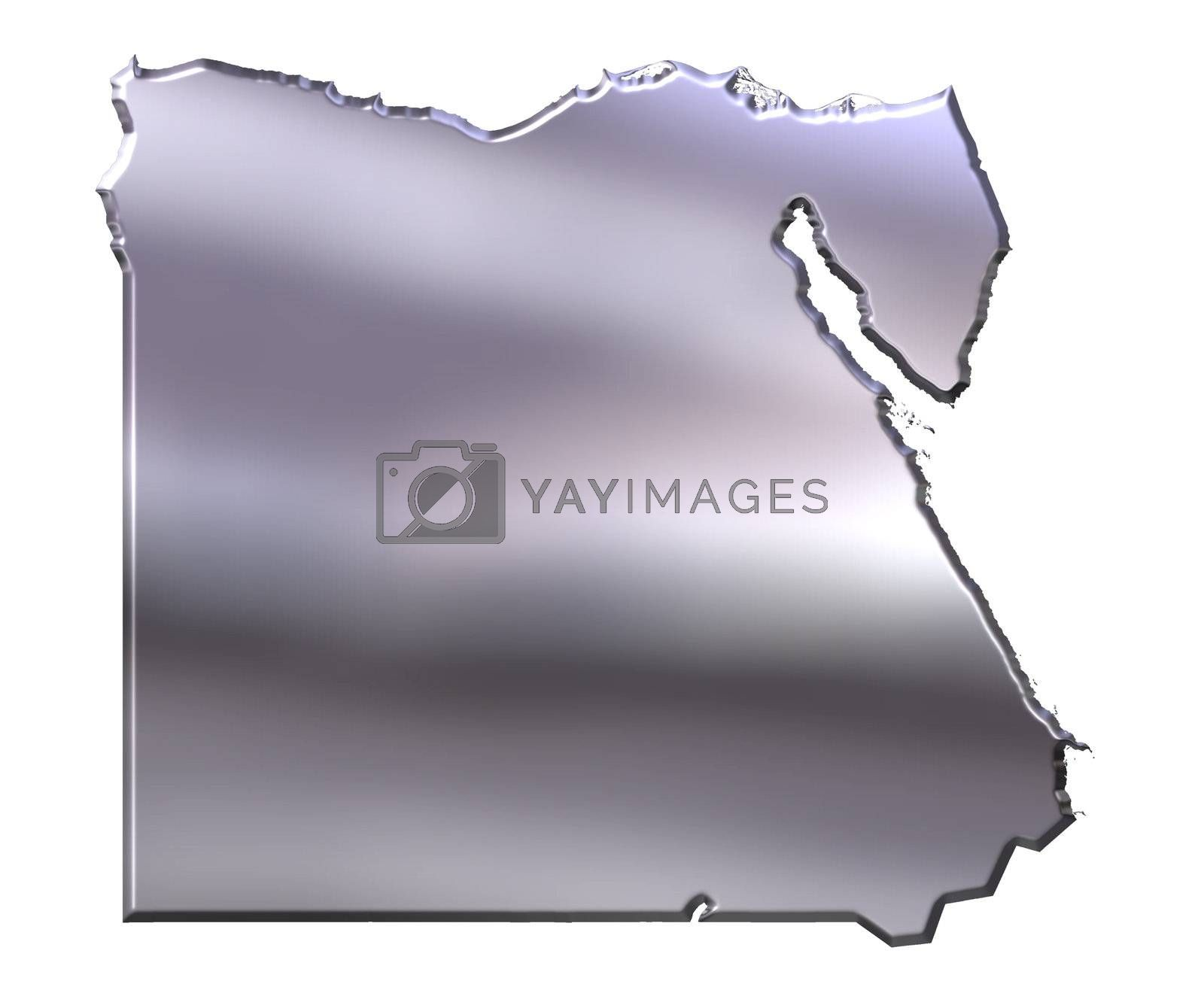 Royalty free image of Egypt 3D Silver Map by Georgios