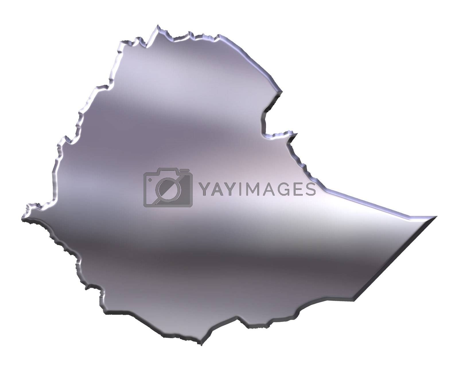 Royalty free image of Ethiopia 3D Silver Map by Georgios