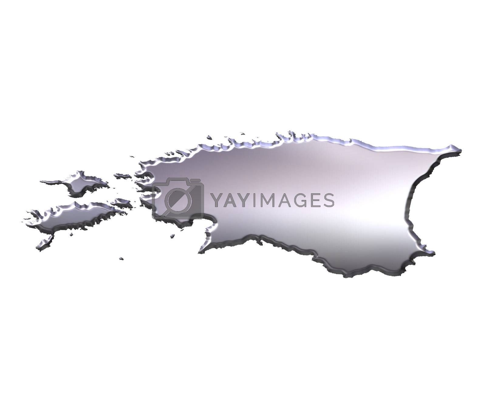 Royalty free image of Estonia 3D Silver Map by Georgios