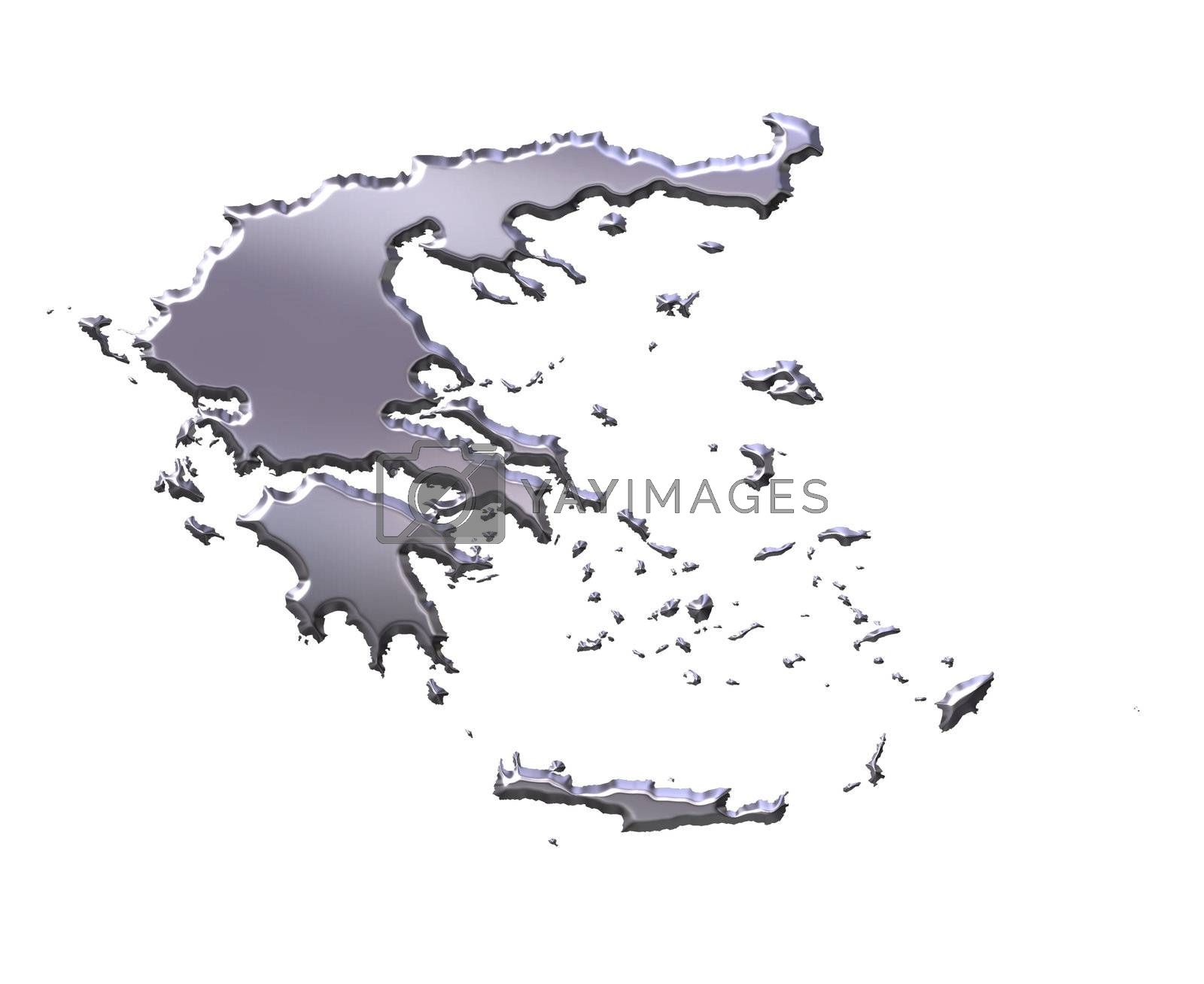 Royalty free image of Greece 3D Silver Map by Georgios