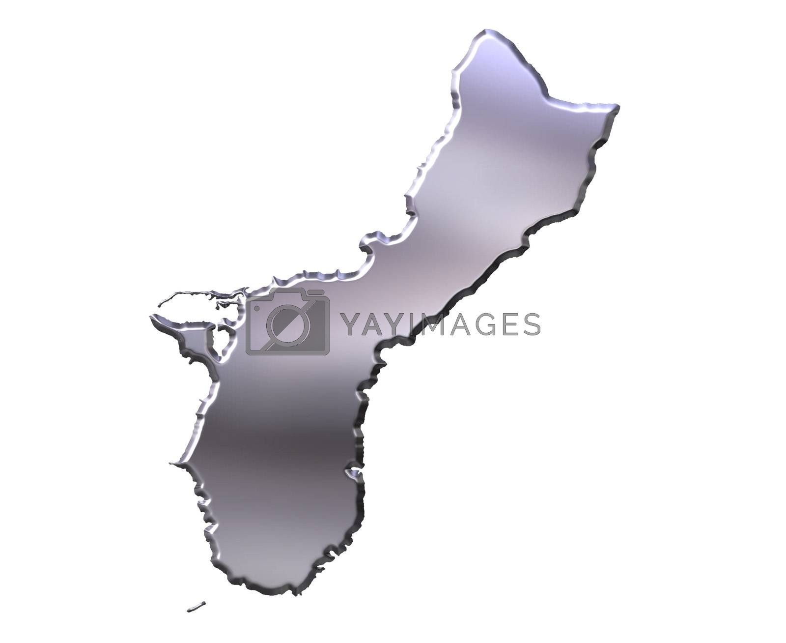 Royalty free image of Guam 3D Silver Map by Georgios