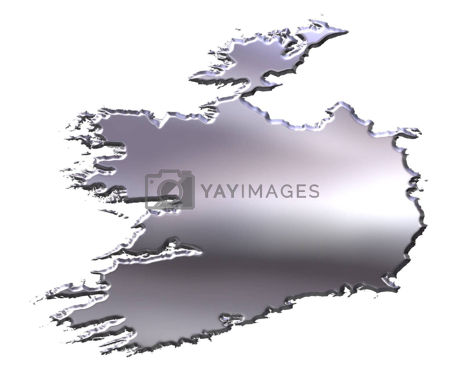 Royalty free image of Ireland 3D Silver Map by Georgios