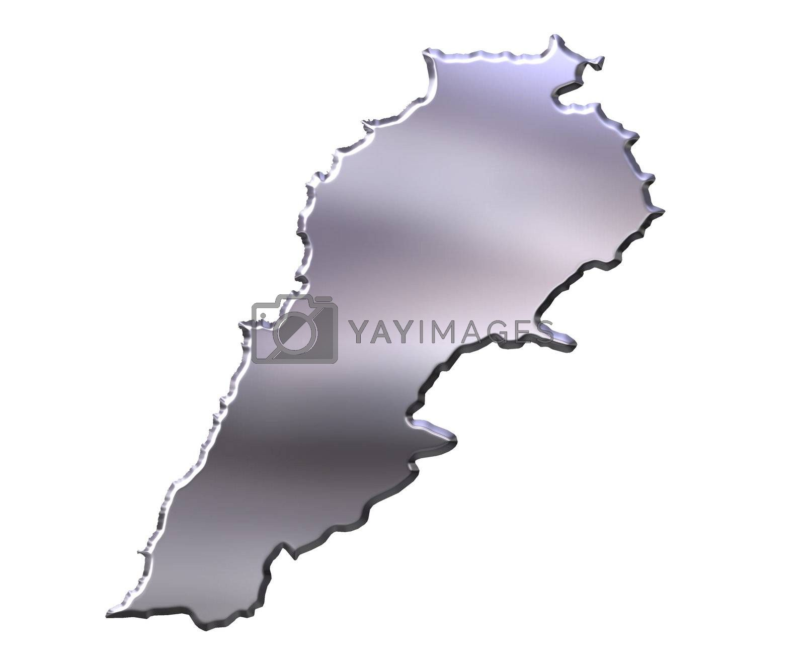 Royalty free image of Lebanon 3D Silver Map by Georgios