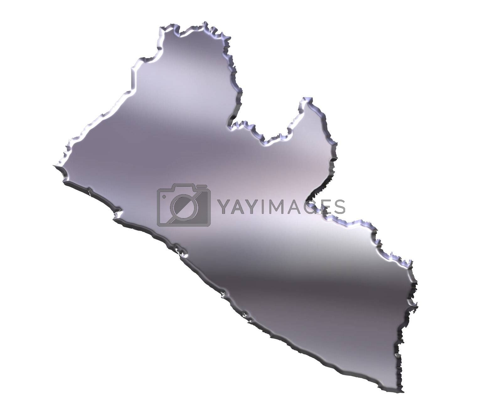 Royalty free image of Liberia 3D Silver Map by Georgios