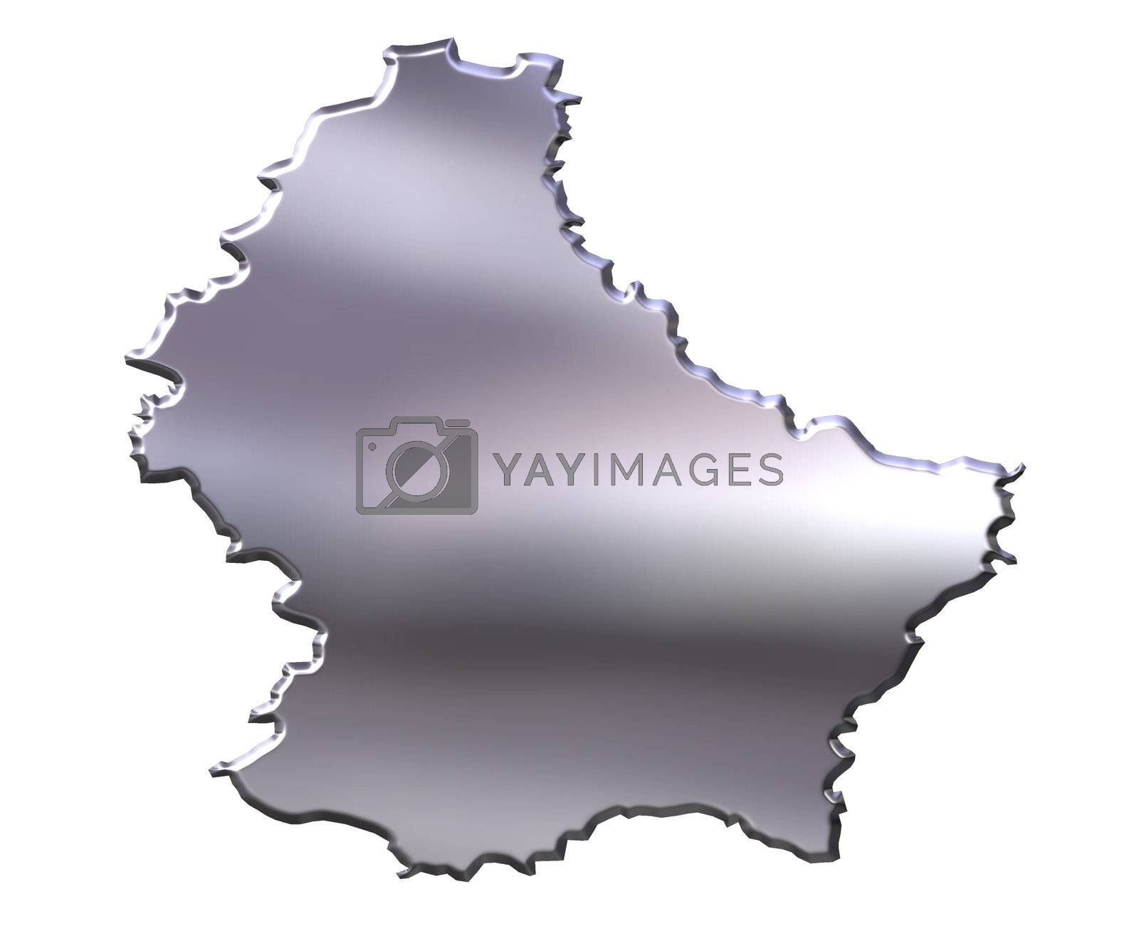 Royalty free image of Luxembourg 3D Silver Map by Georgios