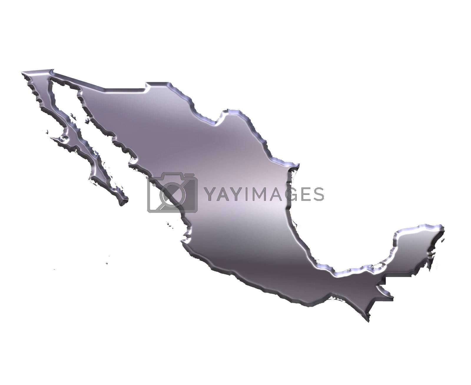 Royalty free image of Mexico 3D Silver Map by Georgios