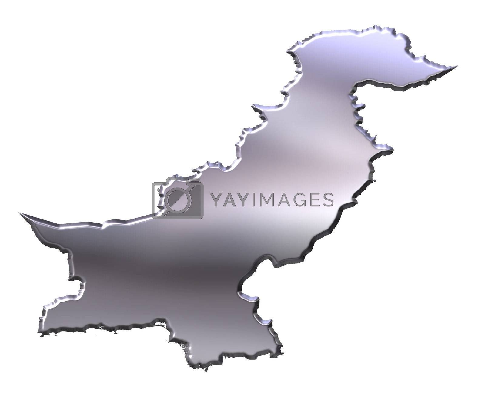 Royalty free image of Pakistan 3D Silver Map by Georgios