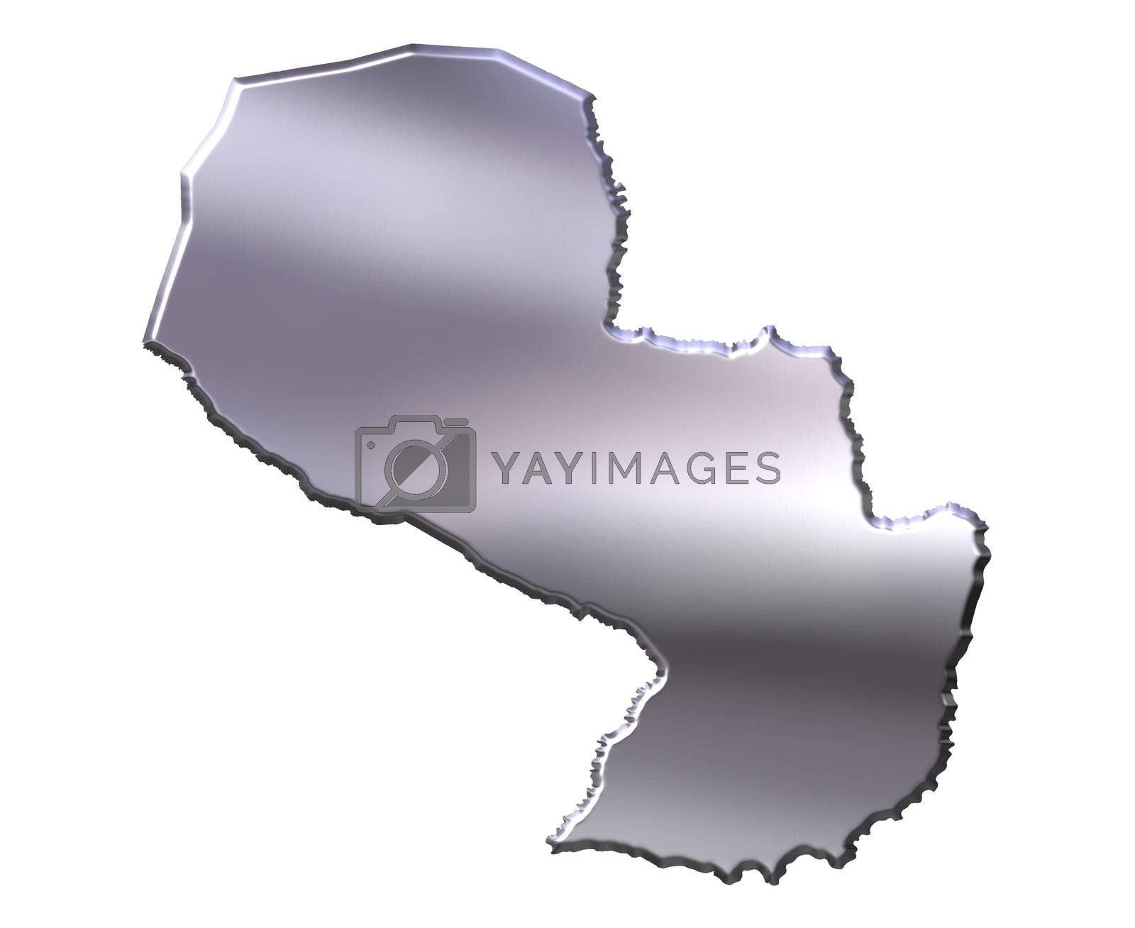 Royalty free image of Paraguay 3D Silver Map by Georgios