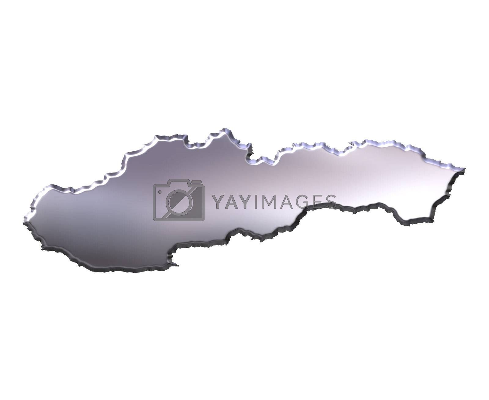 Royalty free image of Slovakia 3D Silver Map by Georgios