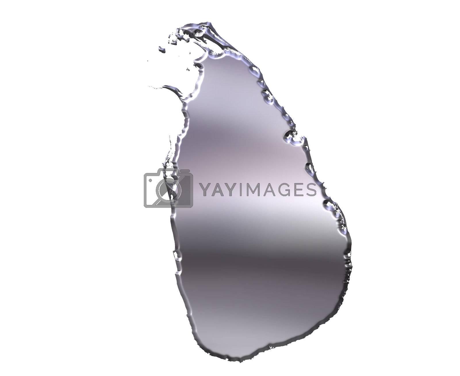 Royalty free image of Sri Lanka 3D Silver Map by Georgios