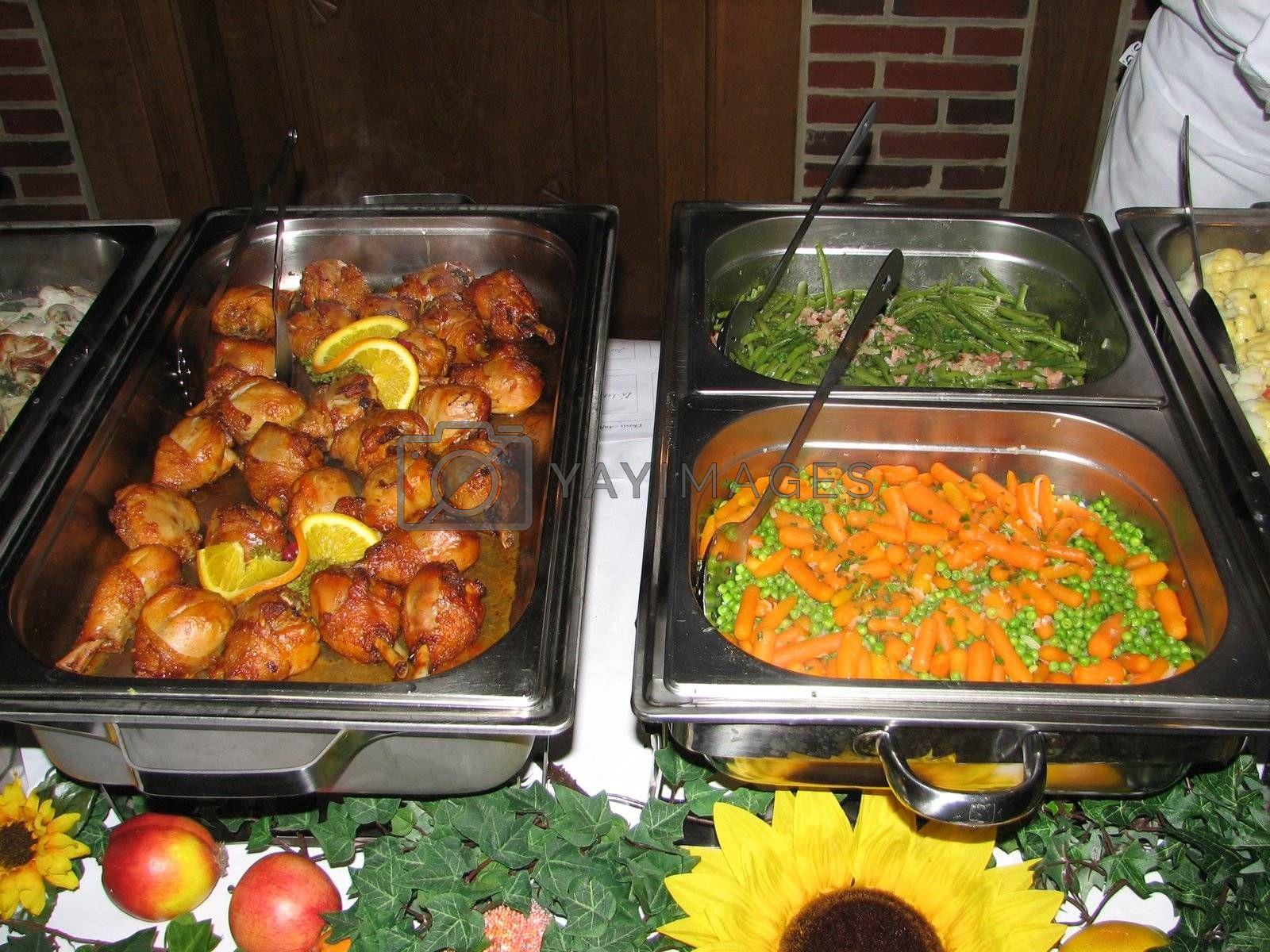 part of a buffet catering