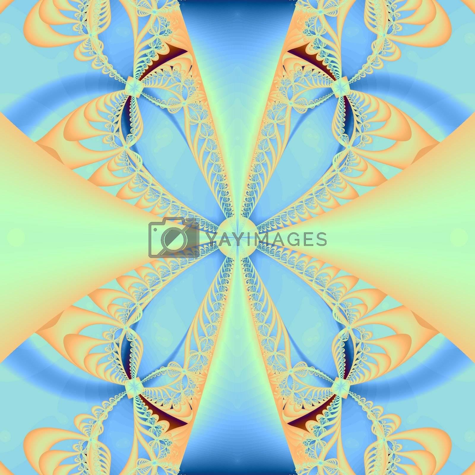 soft blue colored ornamental background