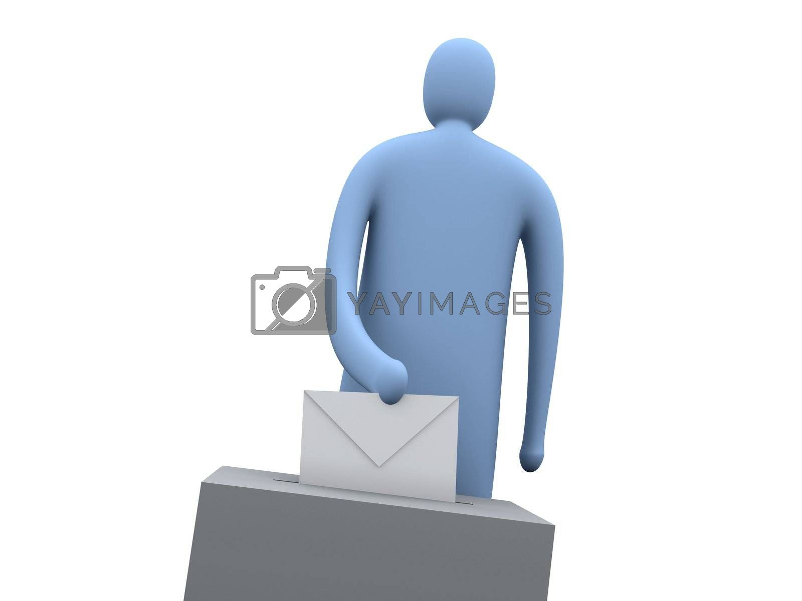 Computer generated image - Voting.