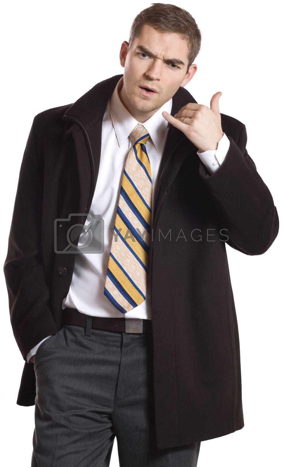Confused businessman.