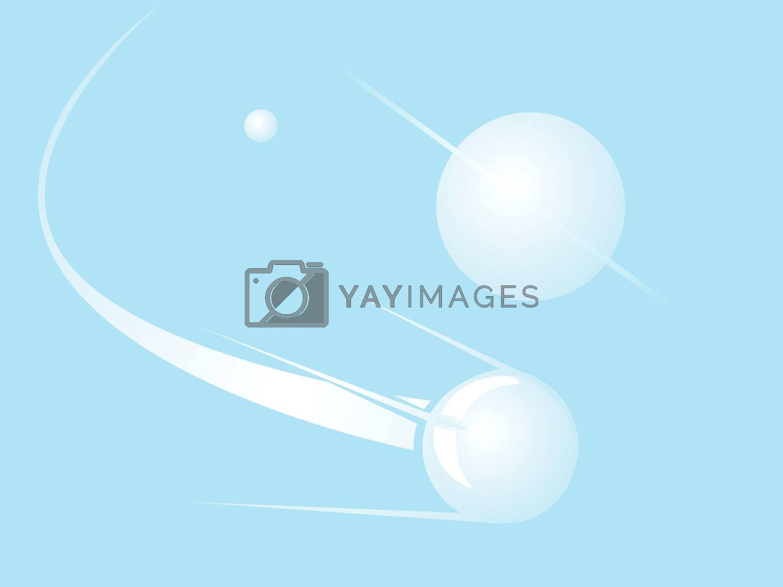 Softly colored desktop background with Russian Sputnik.