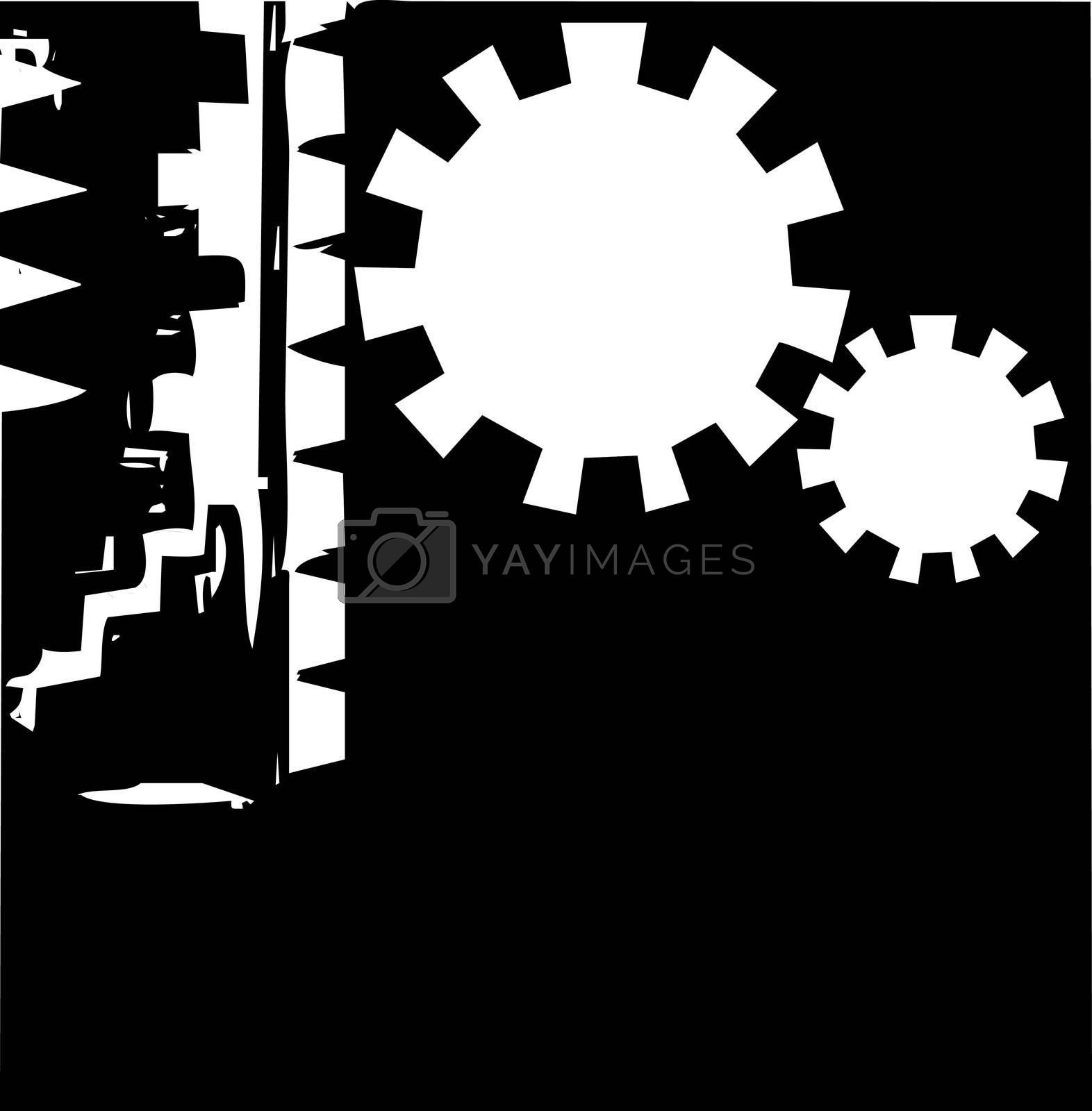 Abstract Gear Background #4 by Xochicalco