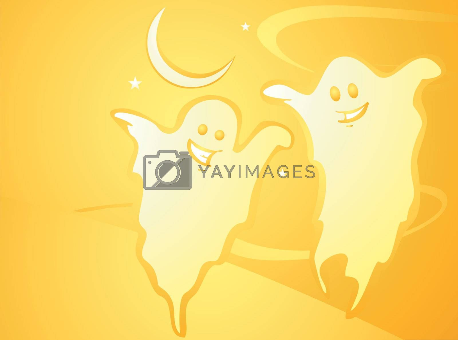 Halloween Ghost Background by Xochicalco