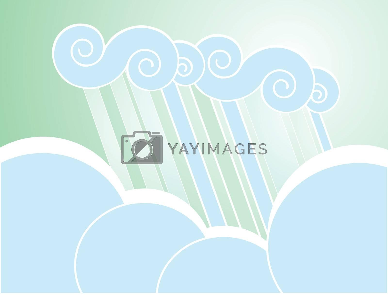 Soft Rain Cloud Background by Xochicalco