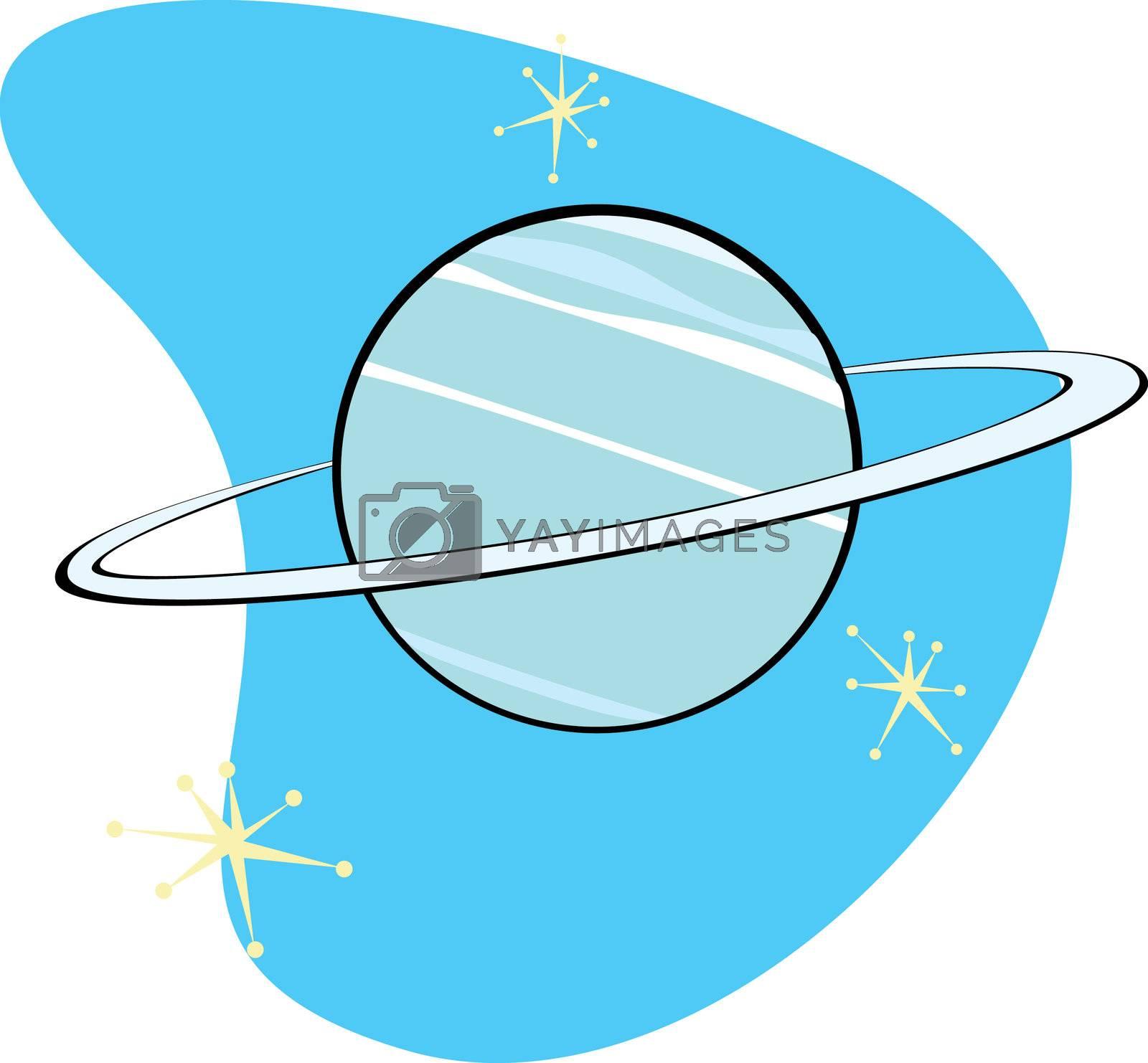 Retro Planet Neptune  by Xochicalco