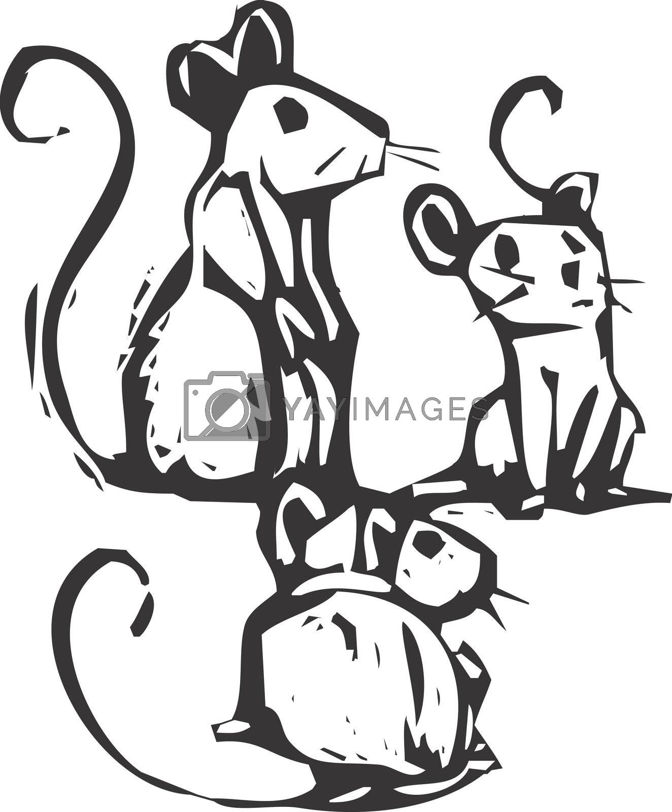 Three mice by Xochicalco