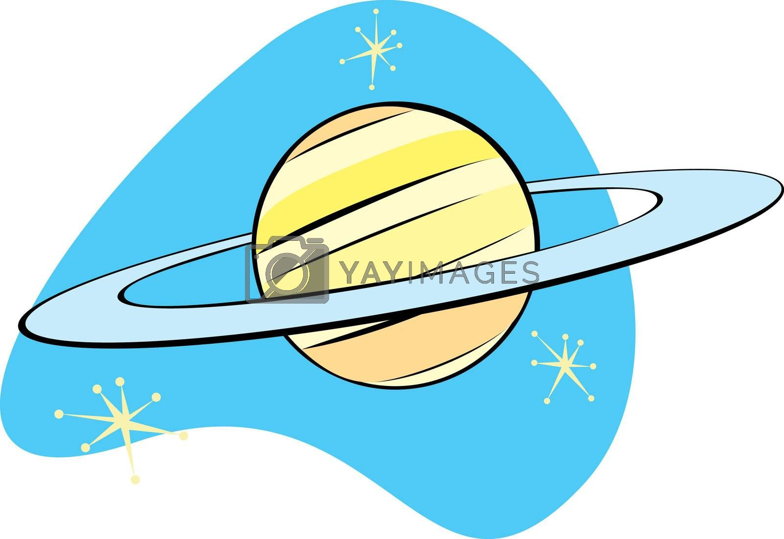 Retro Planet Saturn is part of a complete set of Solar System planet for download.