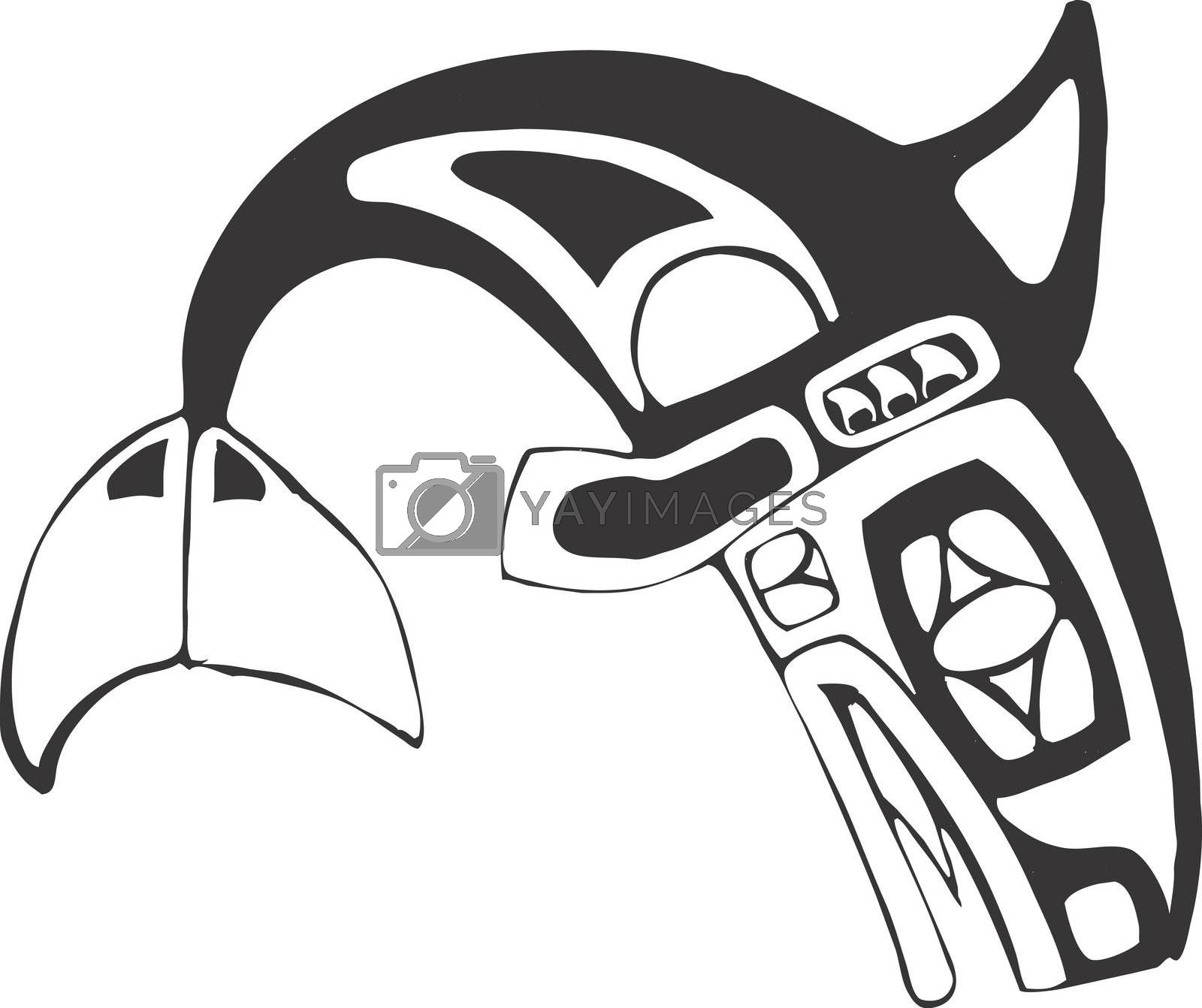 Orca-Killer Whale in the style of Northwest Coast Native Culture.