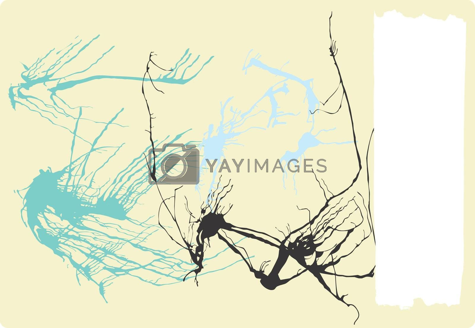 Abstract expressionist style background with spatter paint. Space for text.