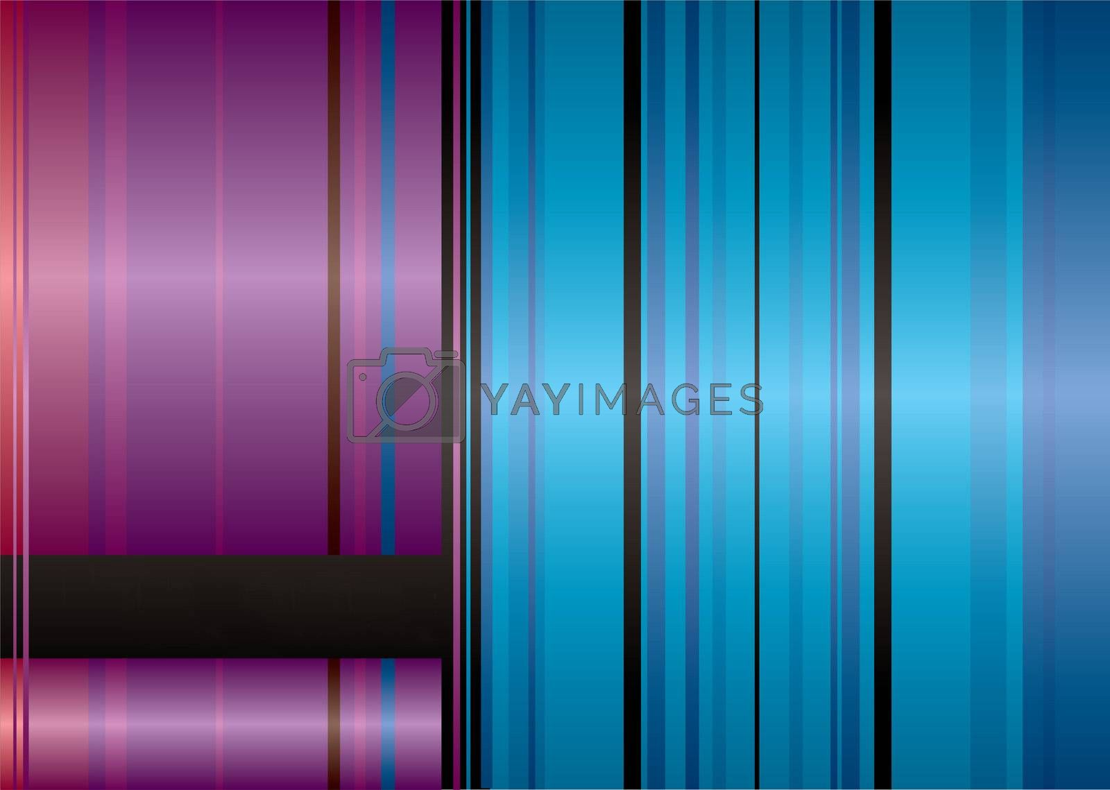 abstract red and blue ribbon background with room to add your text