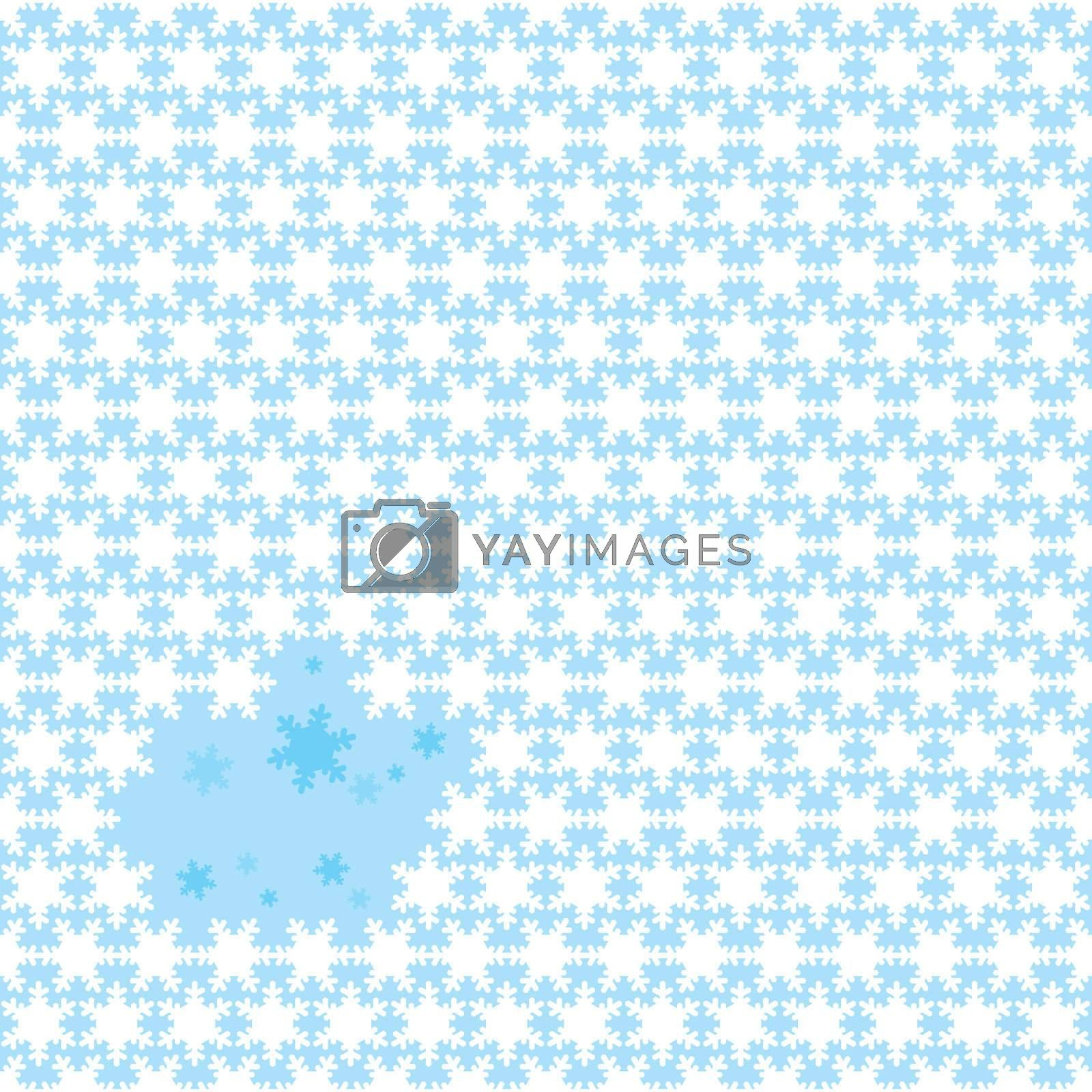 Abstract seamless christmas background with snow flakes and copyspace