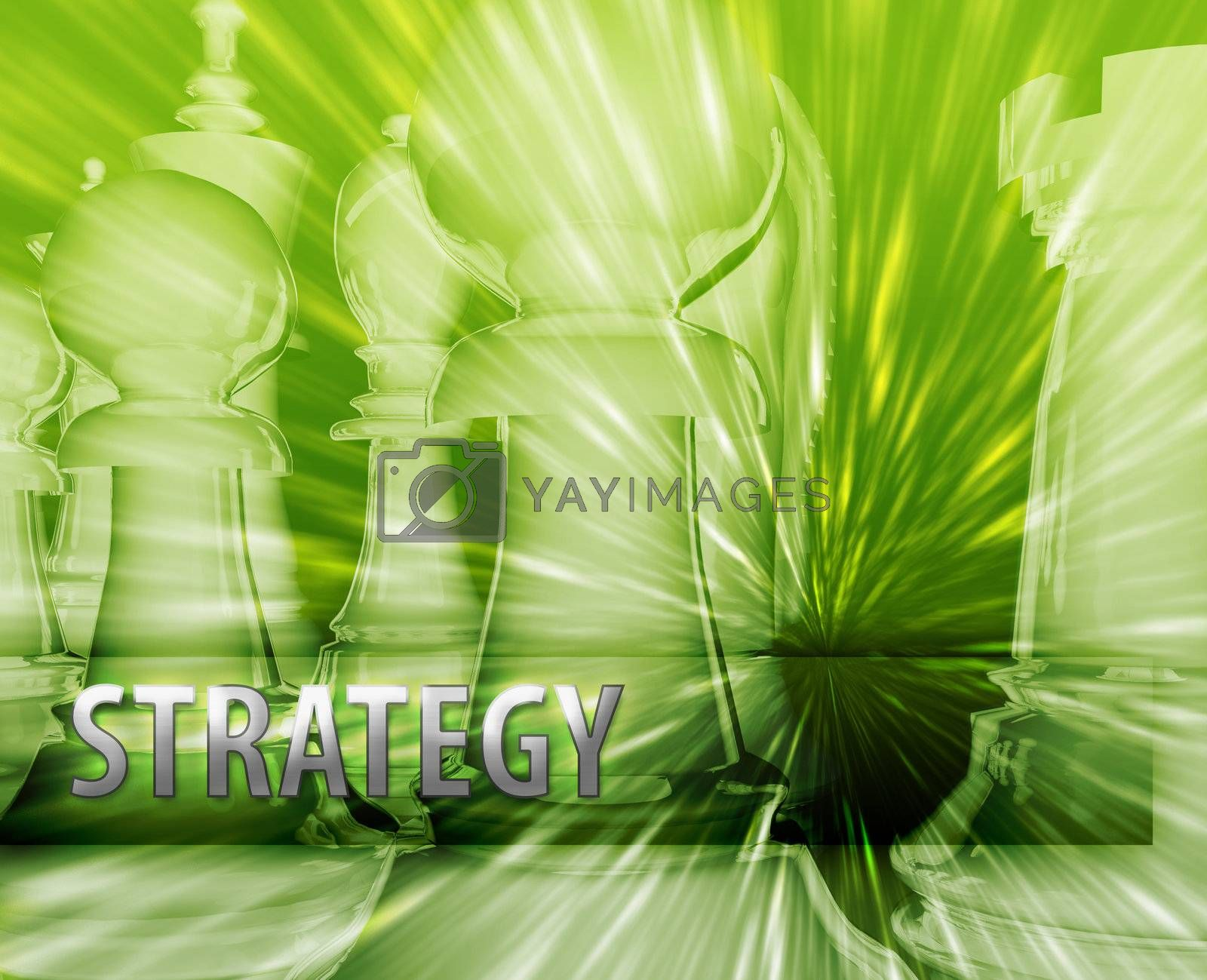 Abstract business strategy management chess themed illustration