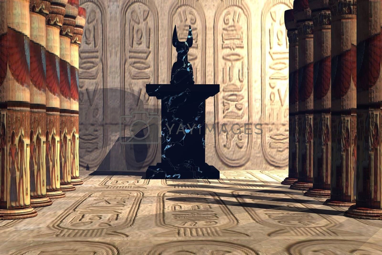 Royalty free image of ANUBIS  TEMPLE by Catmando