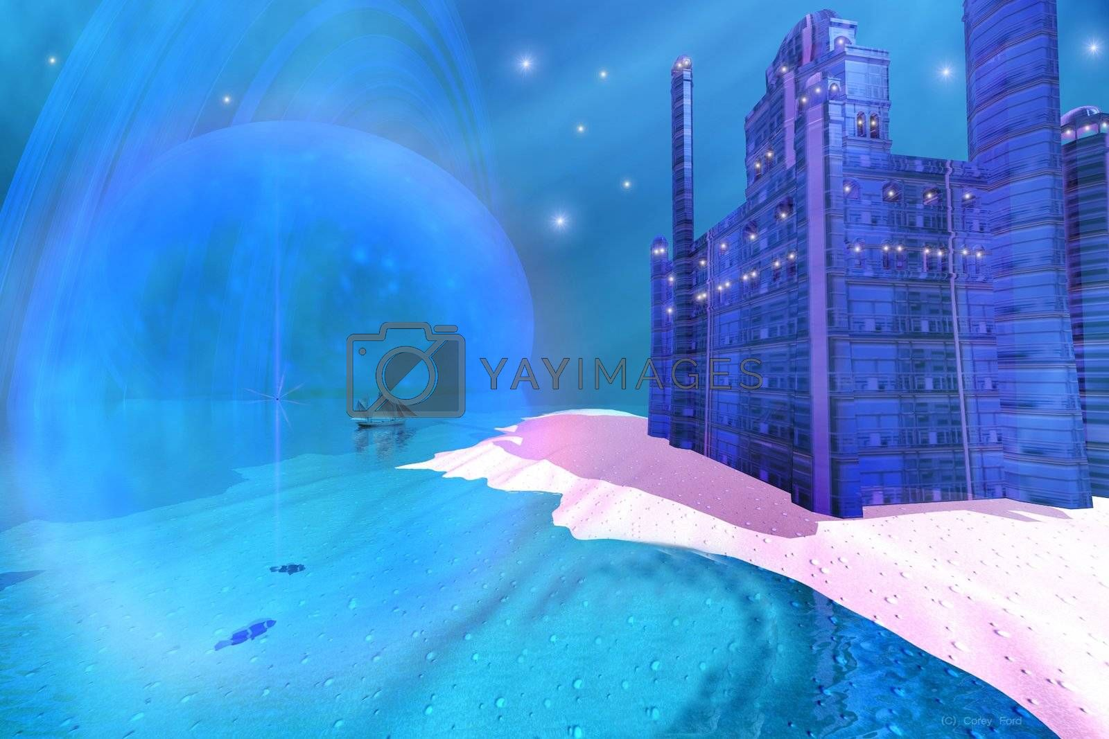 Royalty free image of BLUE  MANSIONS by Catmando