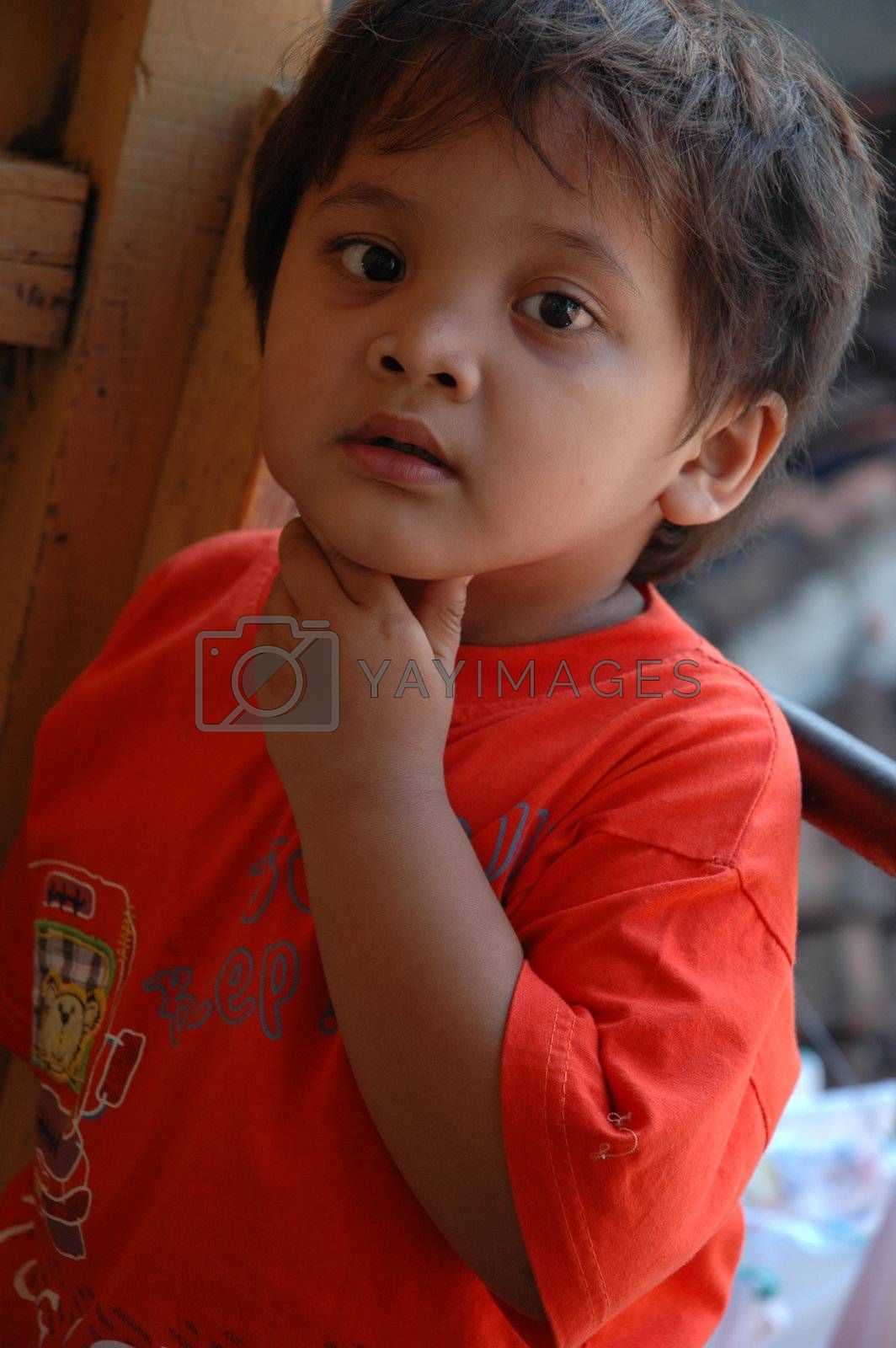 young asian boy with cute and nice face expression