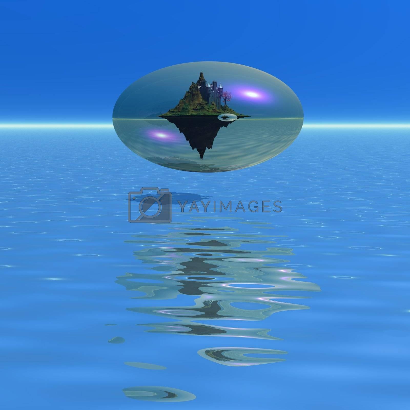 Fantasy world in a bubble.