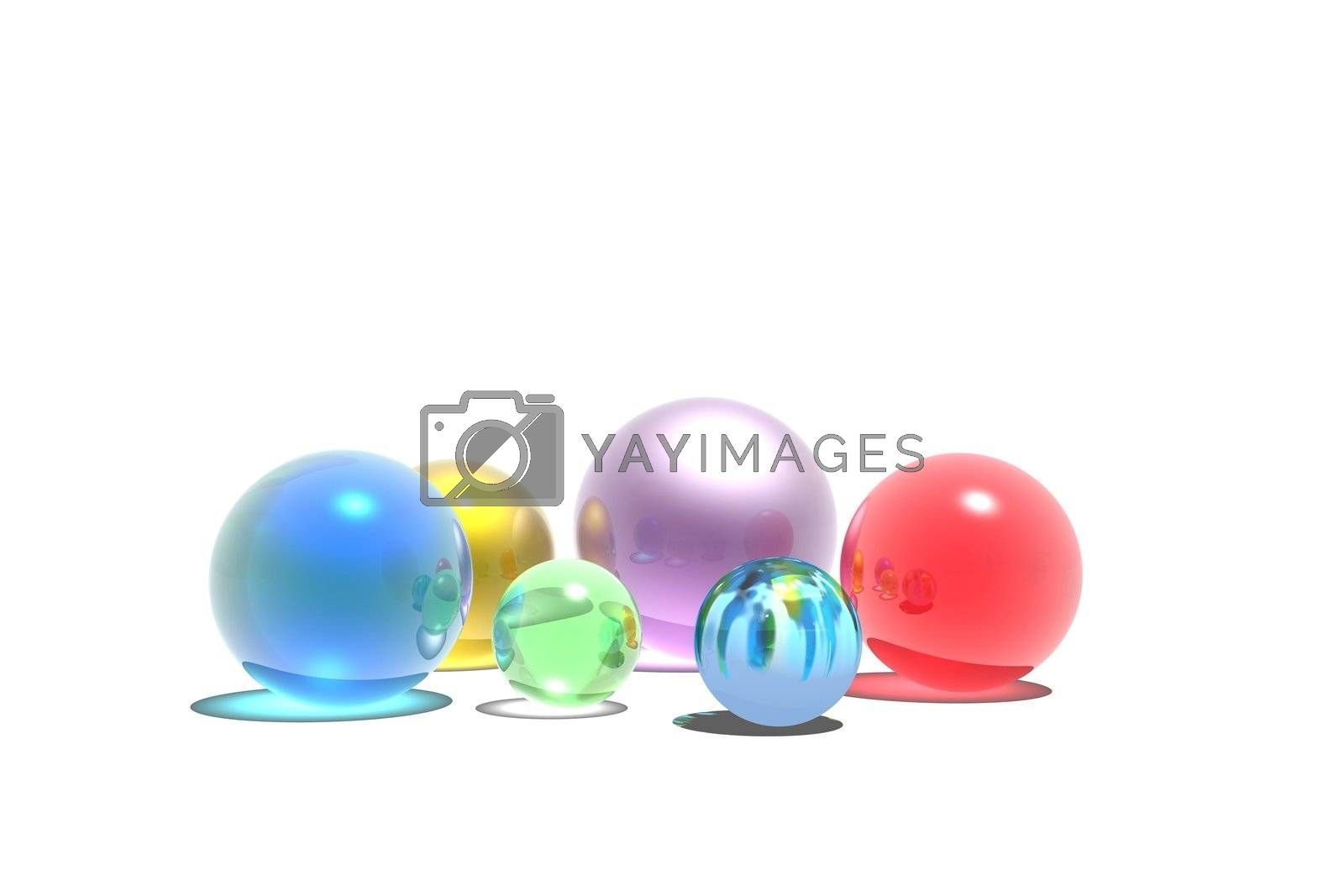Children's game pieces for playing marbles.