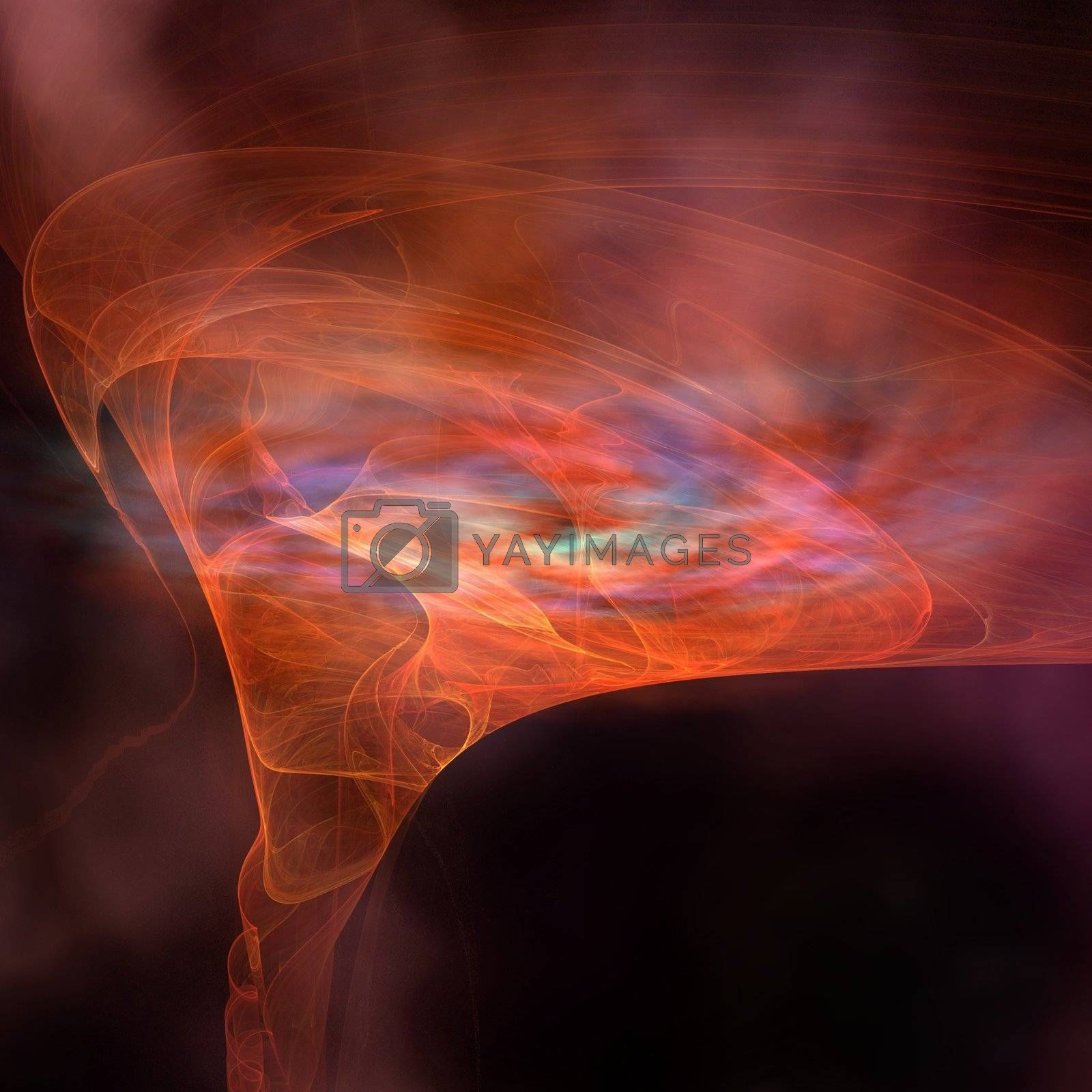 The vortex field of a black hole.