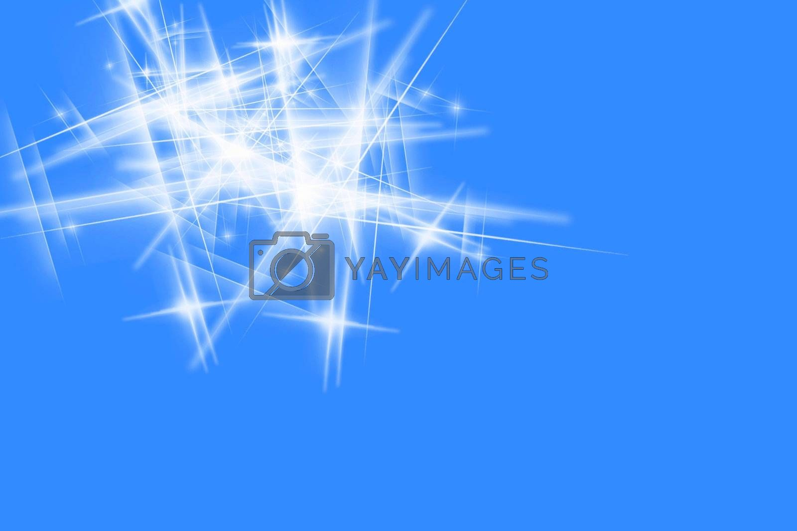 Abstract star fractal design concept.