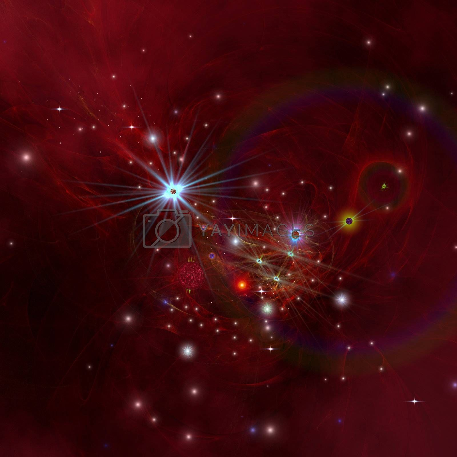 Nebular clouds, gases and stellar matter bring on the birth of stars.