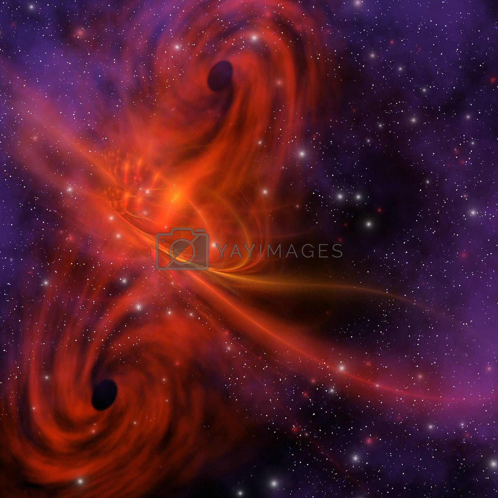 This cosmic phenomenon is a whirlwind in space.
