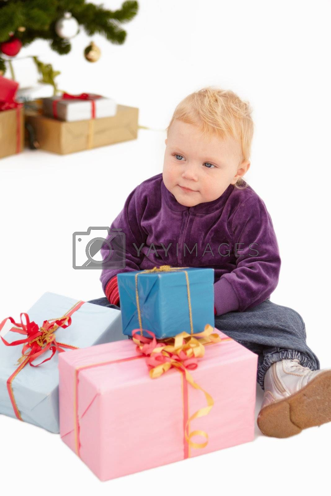 Royalty free image of Christmas - Look at all my presents by FreedomImage