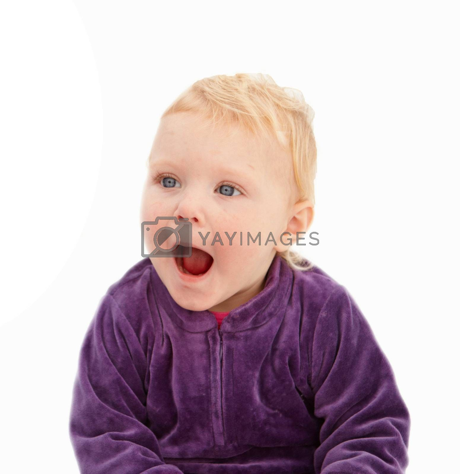 Royalty free image of Surprise - Cute little girl looking shocked by FreedomImage