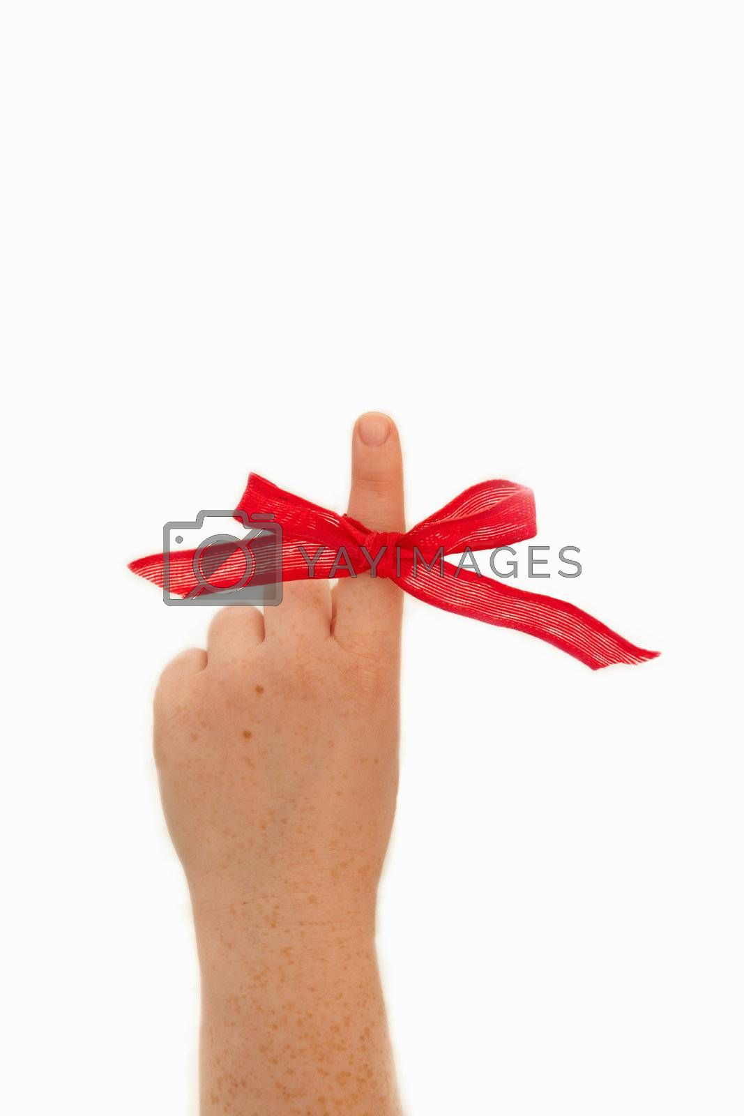 Royalty free image of Presenting the pointing finger by FreedomImage