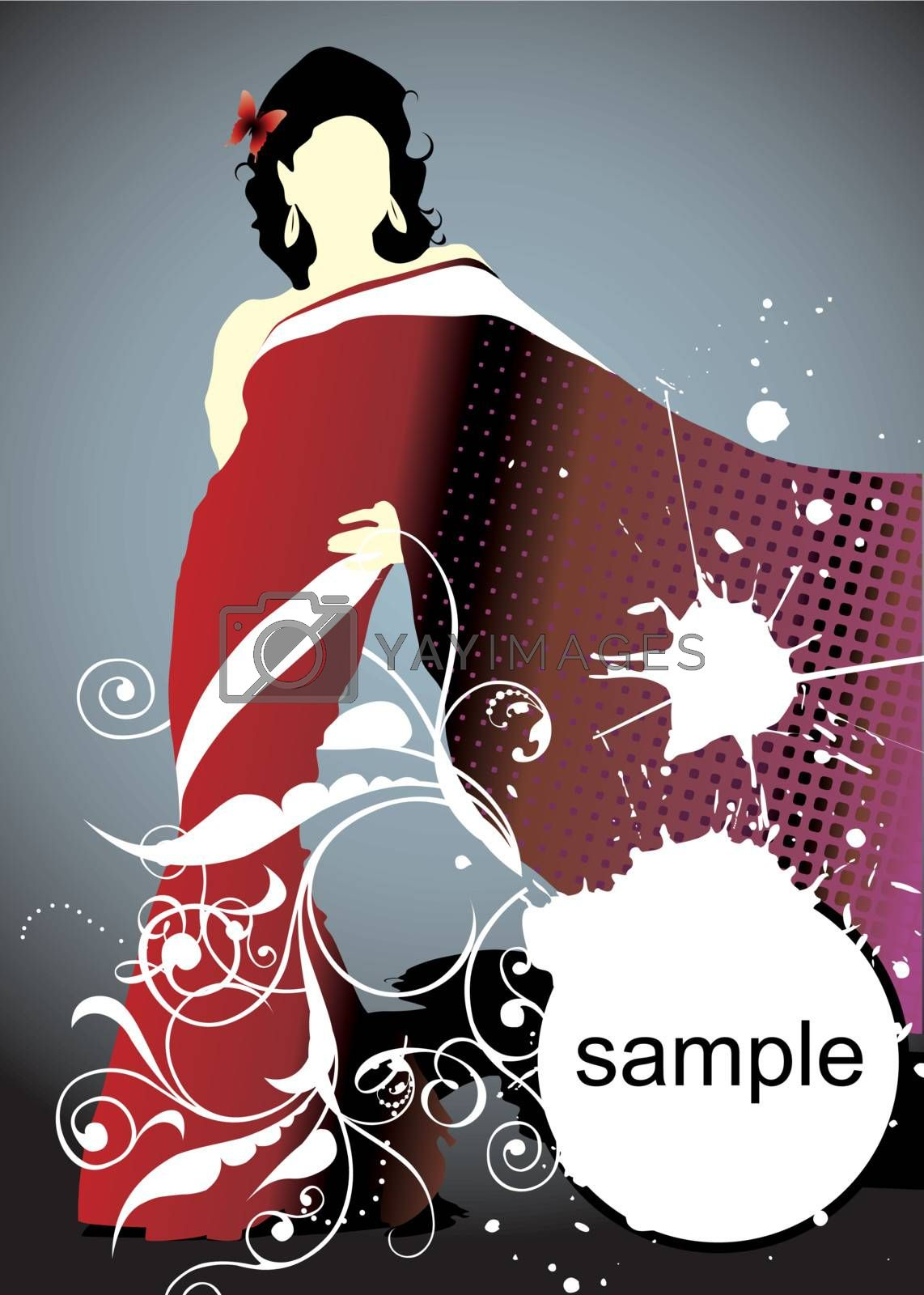 woman silhouette by ojal